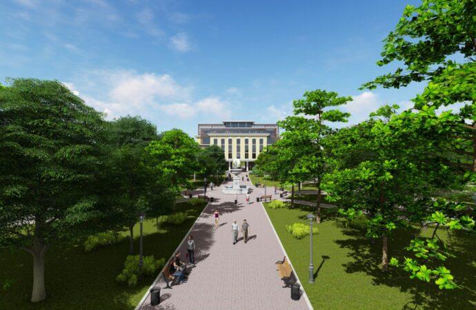 В Одессе обещают обустроить сквер, а на месте нежилой постройки – детский игровой центр