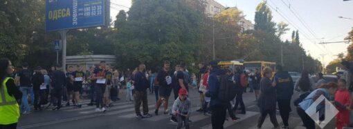 На Таирова одесситы перекрыли улицу из-за стройки