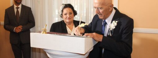 Одесситы отметили бриллиантовую свадьбу походом в ЗАГС