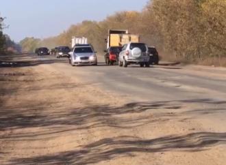 Под Одессой активисты высадят цветы в дорожных ямах