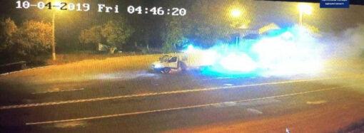 На окраине Одессы пылал автомобиль