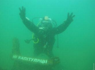 """На дне моря в Одессе появился """"анти-Штайнмайер-экспонат"""""""
