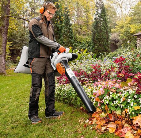 Садовый пылесос Stihl для сбора опавших листьев и скошенной травы