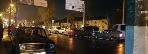 """В Одесі п'ять автомобілів зіштовхнулися """"паровозиком"""""""