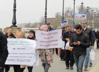 Инспекция новостроек на одесских склонах: активисты нашли оползень и водоем под будущей высоткой (фото)