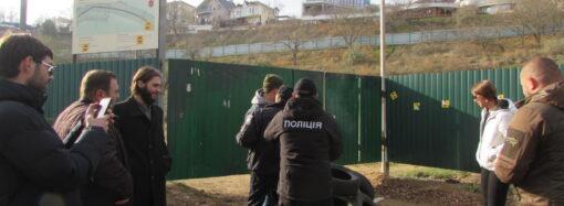 Протест против стройки на одесском Фонтане обернулся разборками с полицией (фото)