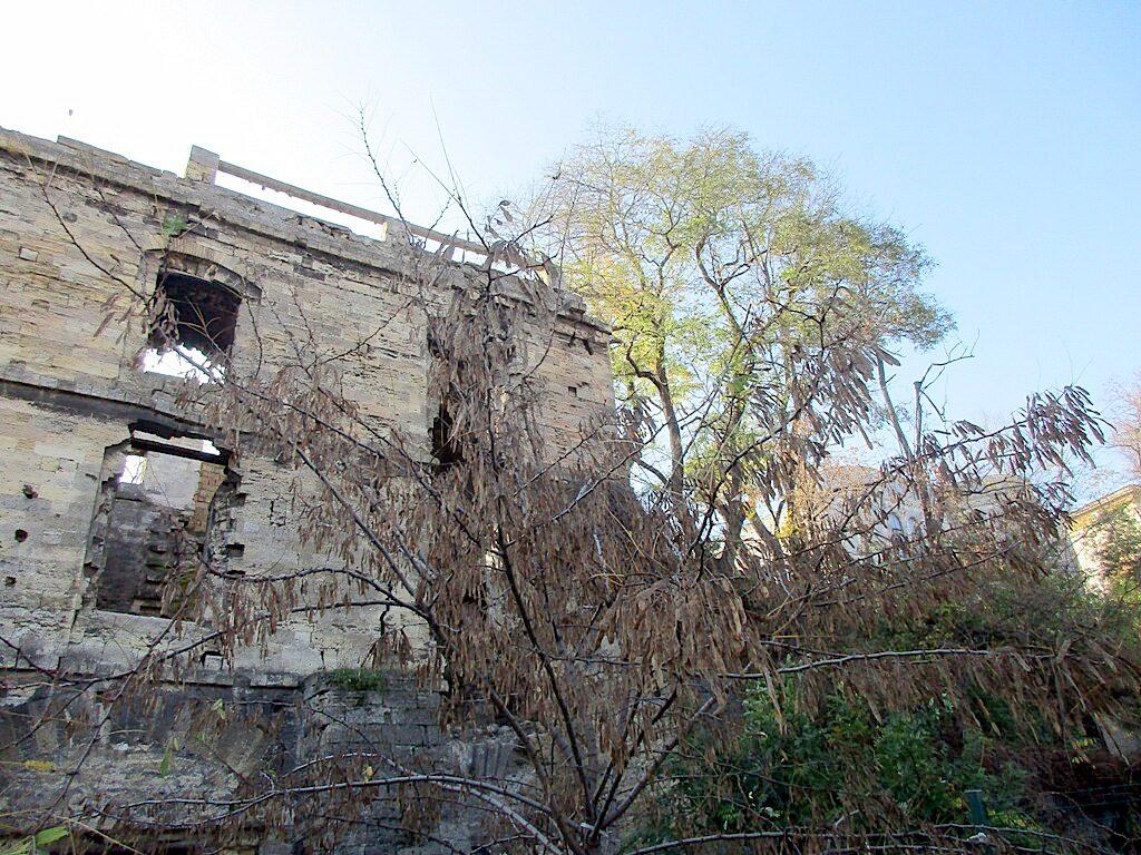 Справа просматривается здание Литературного музея