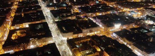 Одесит показав фото нічної Одеси з висоти пташиного польоту