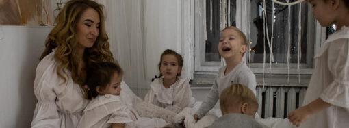 Мама одесской пятерни показала волшебную фотосессию с детьми