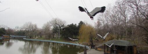 В одесском парке появились журавли, дельфины и капитанский мостик (фото)