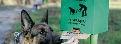 Одесситов просят не воровать пакеты из «собачьих» стоек (видео)