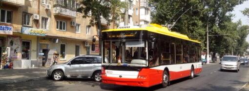В Одесі тимчасово скоротили маршрут тролейбусу №12