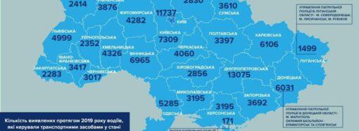 На каком месте Одесская область в Украине по количеству пьяных водителей?