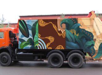 Одесские мусоровозы раскрасят яркими рисунками