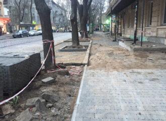 В исторической части Одессы благоустроят тротуар
