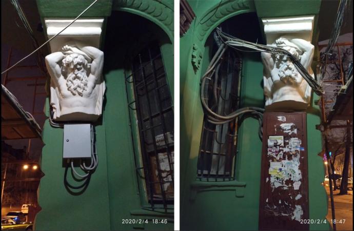 Памятники архитектуры в Одессе хотят освободить от проводов и кондиционеров