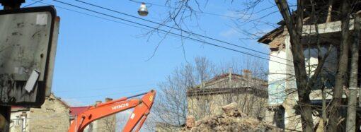 Баня на Торговой в Одессе: демонтаж возобновился (фото)