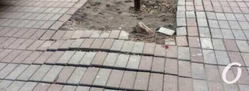Одесские тротуары: сколько нужно на ремонт?