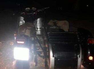 Пьяный полицейский на мотоцикле попал в аварию в Одесской области: его пассажир погиб