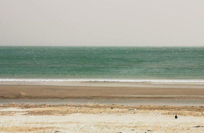 Штормовой ветер отогнал воду у берега Одессы и обнажил дно