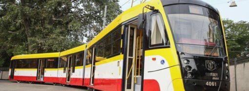 В Одессе выпустили третий трамвай «Одиссей-Макс»