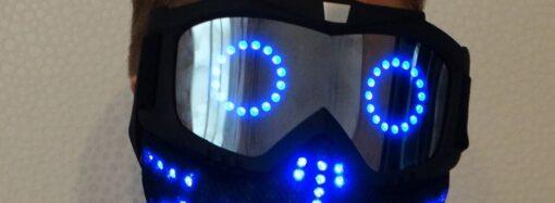 Юный одессит придумал маски, которые светятся и моргают: их продают за границей (фото)