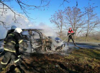 На Одещині загорівся рейсовий пасажирський мікроавтобус Одеса – Ізмаїл