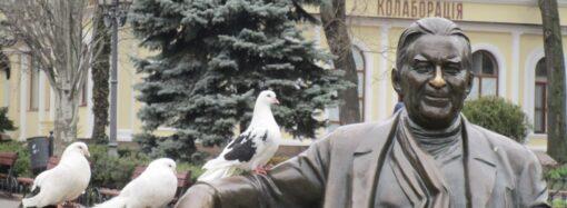Юбилей Утесова в Одессе: очень «тихо», но с цветами