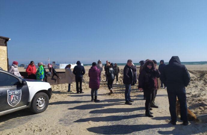 Жители курорта в Одесской области протестуют против стройки на побережье