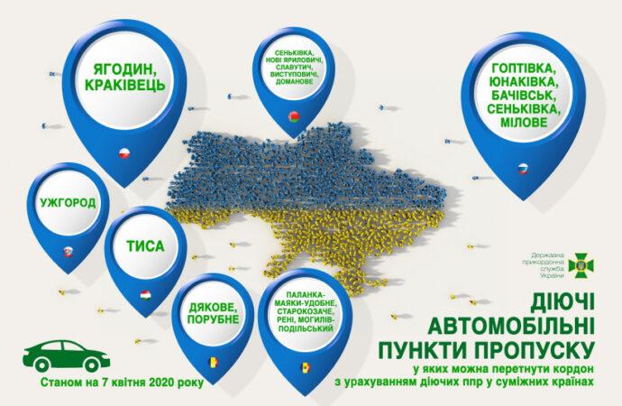 Лише автотранспорт і 19 пунктів пропуску: з 7 квітня Уряд посилить обмеження на кордоні