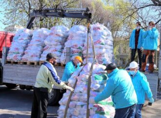 Территория добра: в одесском сквере Гамова работает штаб помощи нуждающимся (фото)