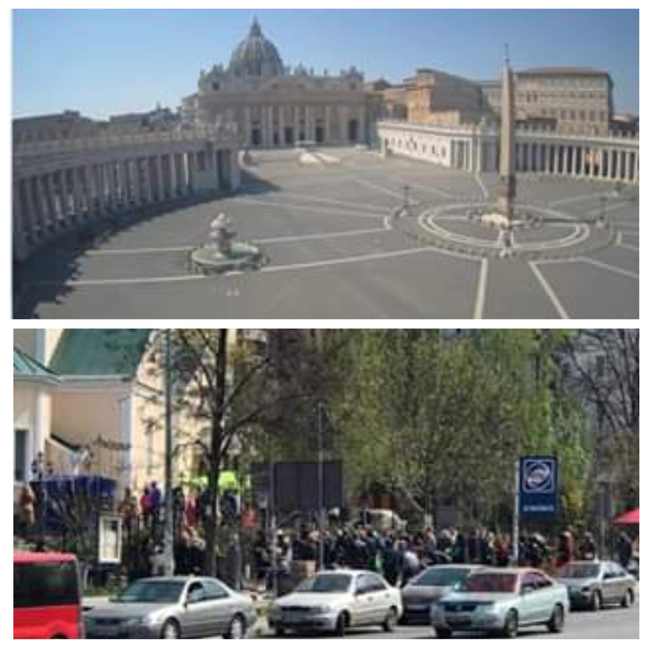 Площадь в Ватикане пустует, в спальном районе Одессы - аншлаг
