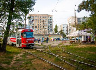 На одесском поселке Котовского запустили новый трамвай