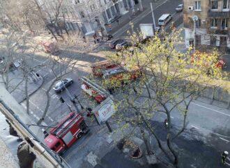 В Одессе горел пострадавший в декабре дом Асвадурова (фото)
