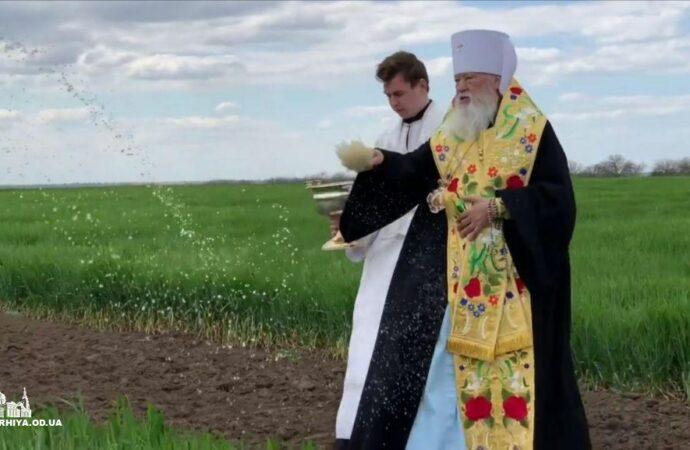 Митрополит Одеський та Ізмаїльський здійснив молебень на дощ та освятив поля (відео)