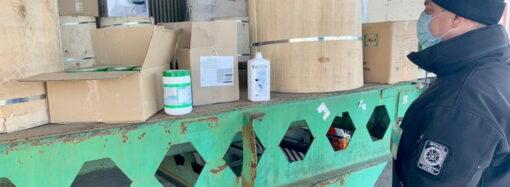 В порту Одесской области задержали контрабандный антисептик на экспорт