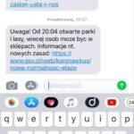 СМС об открытии зеленых зон в Польше