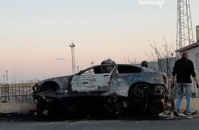 На трассе близ Одессы дотла сгорело авто (фото, видео)