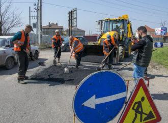 На Одесчине проводят аварийный ремонт дороги