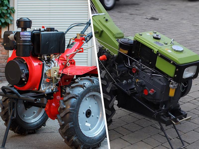 Отличия между бензиновым и дизельным мотоблоком