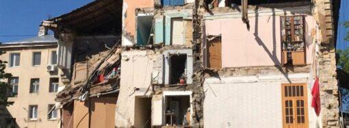 В Одесі на вулиці Торговій частково обвалилася стіна п'ятиповерхового житлового будинку (фото)
