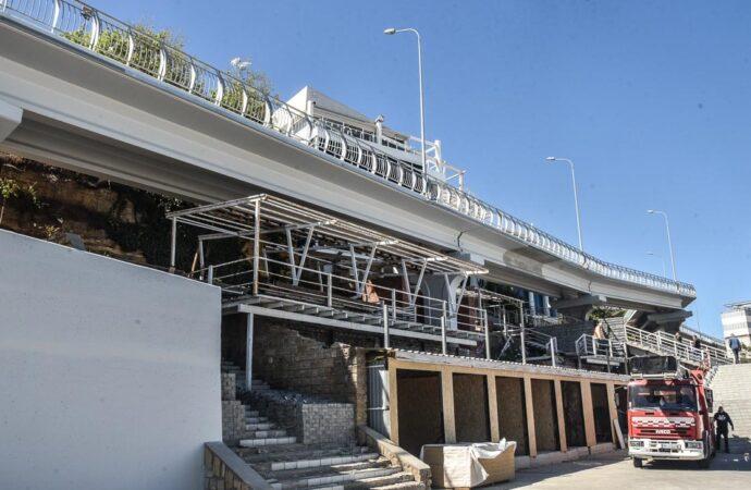 Работы по строительству эстакады на Трассе здоровья в стадии завершения (фото)