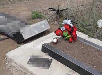 В Одесской области задержали вандала, который разрушил на кладбище более 10 могил