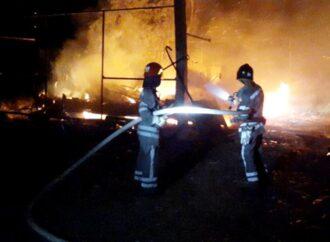 В Одесской области на базе отдыха сгорели 2 домика (фото)