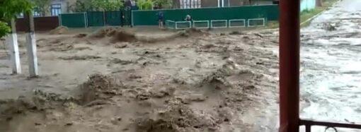 Через дощові вихідні на Одещині позатоплювало села (фото, відео)