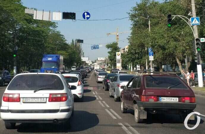 Центр Одессы сковали пробки
