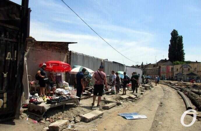 Одесский Новощепной ряд: реконструкция в разгаре, торговля тоже (фото)
