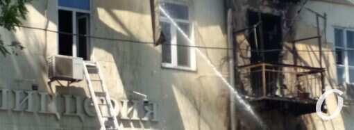 Пожар в центре Одессы: людей переселили в детский санаторий