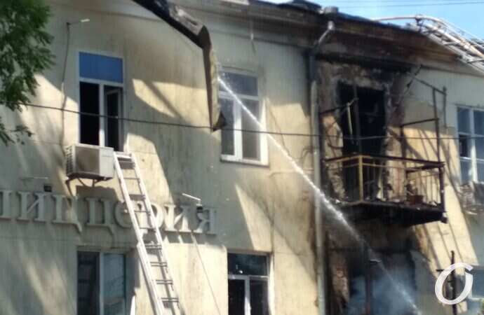 Пожар в центре Одессы: без жилья временно остались десятки людей