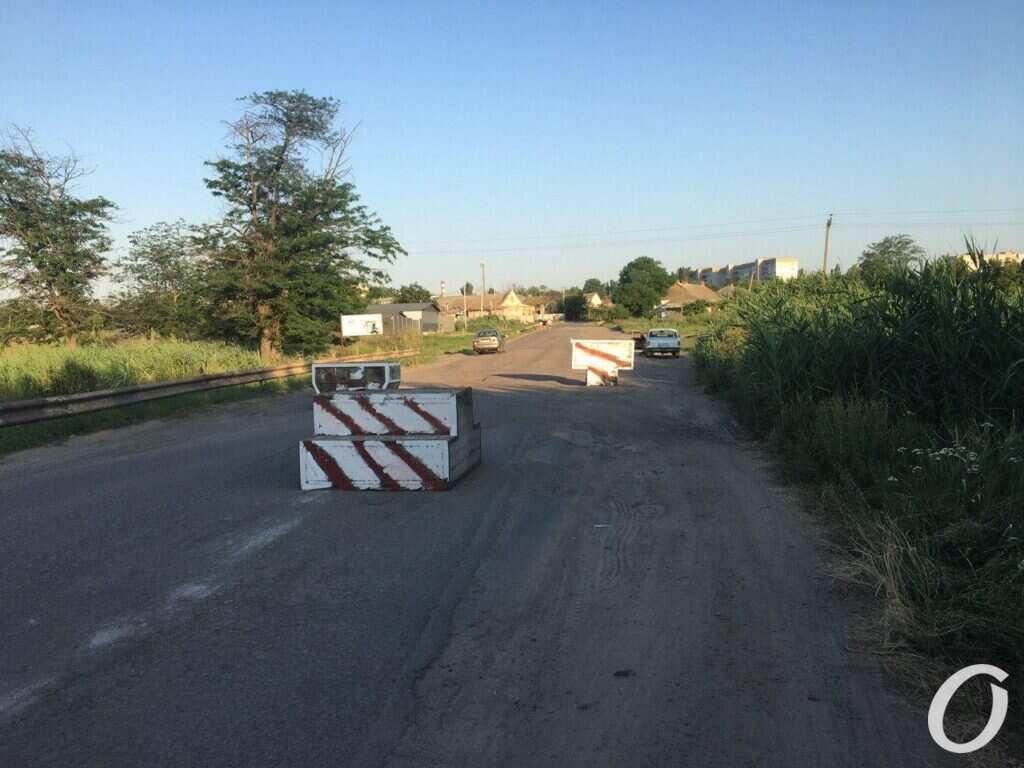Перекрытие дороги в Иличанке